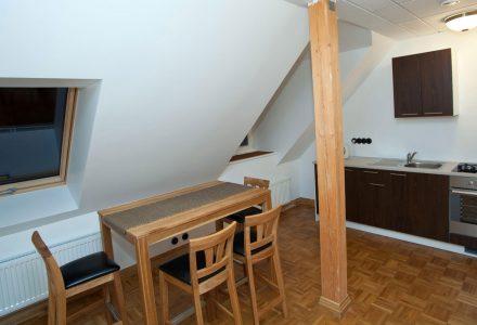Кухонный уголок и мини-бар в люксе |Отель